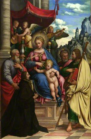 The Madonna and Child with Angels, Saints and a Donor