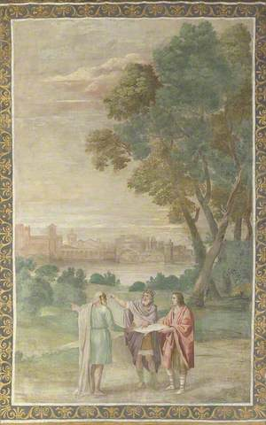 Apollo and Neptune advising Laomedon on the Building of Troy