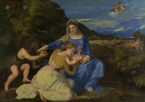 The Virgin and Child with the Infant Saint John and a Female Saint or Donor (The Aldobrandini Madonna)