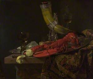 Still Life with the Drinking-Horn of the Saint Sebastian Archers' Guild, Lobster and Glasses