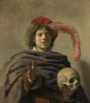 Young Man holding a Skull (Vanitas)