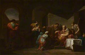 Belisarius receiving Hospitality from a Peasant