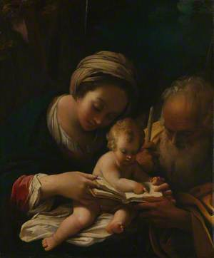 The Holy Family with the Virgin teaching the Child to Read