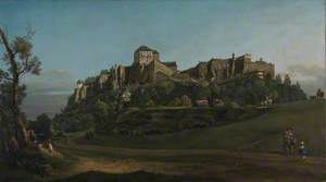 The Fortress of Königstein from the North