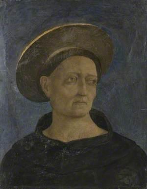 Head of a Tonsured, Beardless Saint