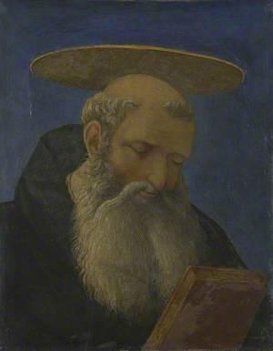 Head of a Tonsured, Bearded Saint