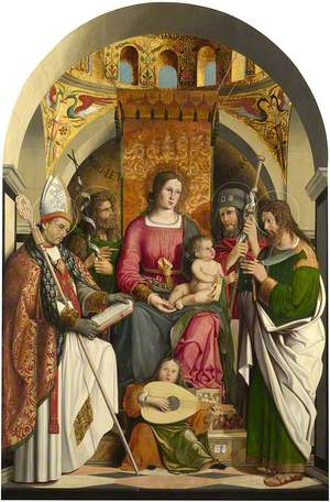 The Virgin and Child Enthroned with Saints Gall, John the Baptist, Roch (?) and Bartholomew