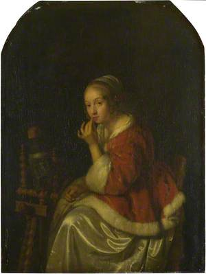 A Lady at a Spinning-wheel