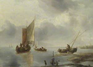 A Small Vessel in Light Airs, and Another Ashore