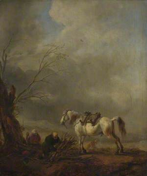 A White Horse, and an Old Man binding Faggots