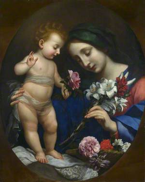 The Virgin and Child with Flowers
