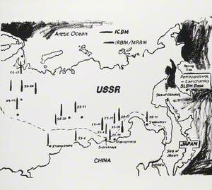 Map of Eastern USSR Missile Bases