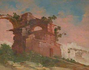 Landscape Capriccio with Ruined Buildings