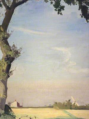 Oak Tree and Windmill