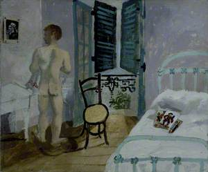 Nude Boy in a Bedroom