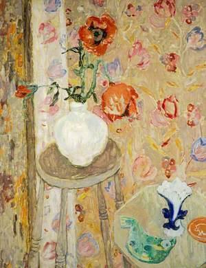 Poppies and Cretonne Cloth