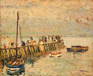 Figures on a Quay, Largo