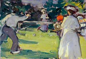 Game of Tennis, Luxembourg Gardens