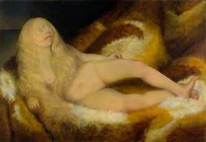 Mädchen auf Fell (Nude Girl on a Fur)