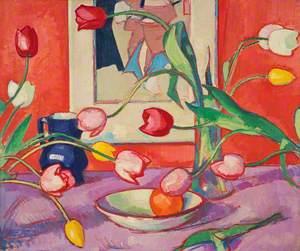 Tulips – The Blue Jug
