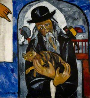 Rabbi with Cat