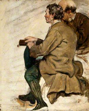 Two Seated Men (Study for 'The Covenanters' Baptism')