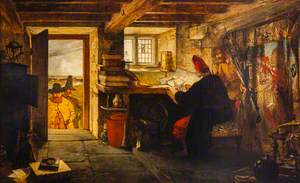 Hudibras and Ralph Visiting the Astrologer (from Butler's 'Hudibras')