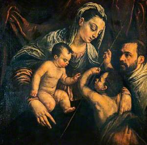 The Virgin and Child with Saint John the Baptist and a Donor
