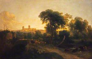 A Distant View of Lincoln Cathedral