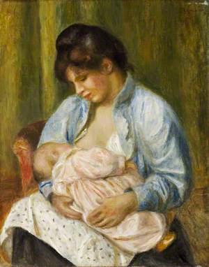 A Woman Nursing a Child