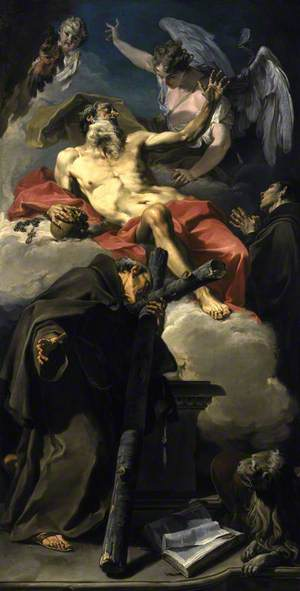 The Apotheosis of Saint Jerome with Saint Peter of Alcántara and an Unidentified Franciscan