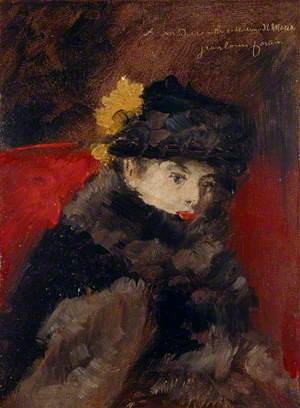 A Lady in a Fur Cape