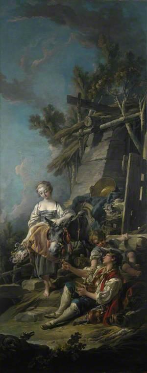 A Pastoral Scene ('L'Offrande à la Villageoise')