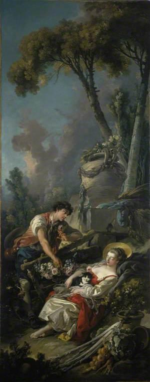A Pastoral Scene ('La Jardiniere Endormie')