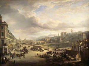 Princes Street with the Commencement of the Building of the Royal Institution