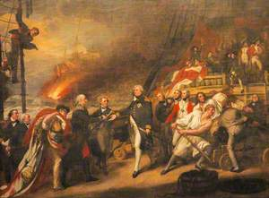 The Surrender of the Dutch Admiral de Winter to Admiral Duncan at the Battle of Camperdown