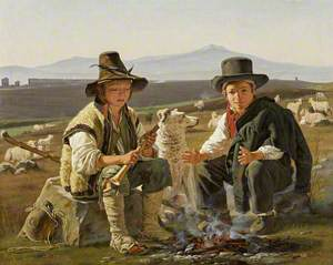 Two Shepherd Boys in the Roman Campagna