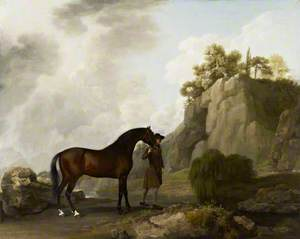 The Marquess of Rockingham's Arabian Stallion (Led by a Groom at Creswell Crags)