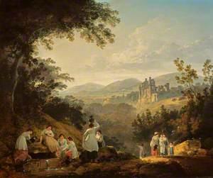 View of Rosslyn Castle from the Grounds of Sheriff Clerk (Mavisbank)