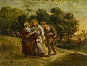 Christ with his Disciples on the Road to Emmaus