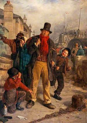 An Irish Emigrant Landing at Liverpool (Jim Blake Landing in Liverpool)