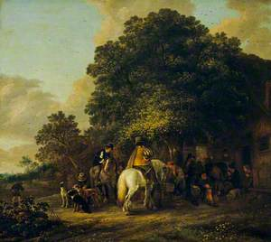 Sportsmen Halting at an Inn