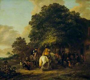 Sportsmen Halting at an Inn
