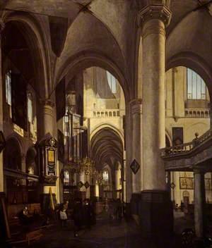 The Interior of a Dutch Church