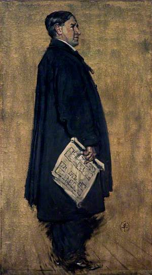 Charles Rennie Mackintosh (1868–1928), Architect – Study for the Group Portrait 'The Building Committee of the Glasgow School of Art'