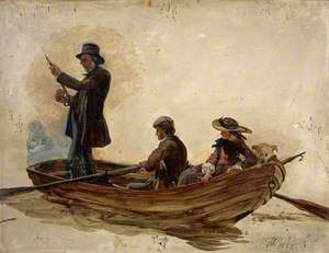 Reverend Thomas Guthrie (1803–1873), Preacher and Philanthropist with his Children, Patrick and Anne, Fishing on Lochlee