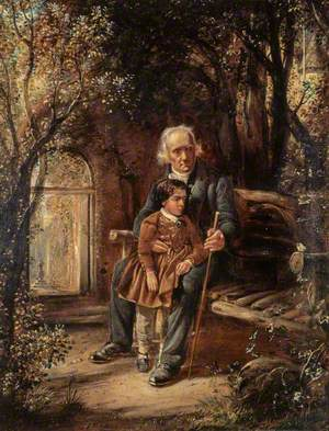 Reverend Thomas Chalmers (1780–1847), Preacher and Social Reformer, with his Grandson Thomas Chalmers Hanna