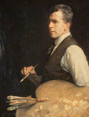 Henry Young Alison (1889–1972), Artist, Self Portrait