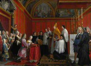 The Solemnisation of the Marriage of Prince James Francis Edward Stuart and Princess Maria Clementina Sobieska at Montefiascone, 1 September 1719