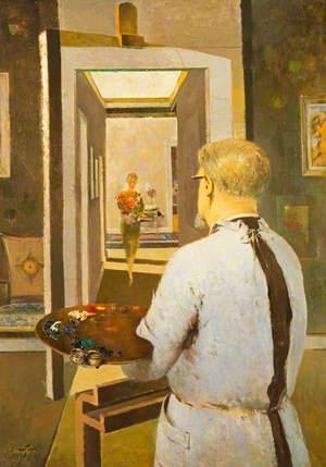 Hugh Adam Crawford (1898–1982), Artist, Self Portrait